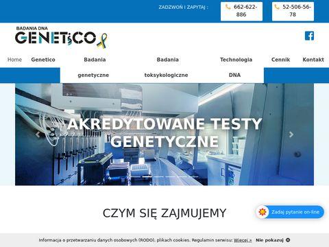Genetico.pl badanie genetyczne