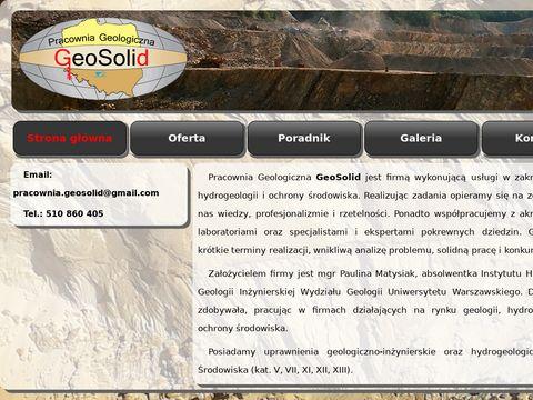 Geosolid.pl geolog, badania gruntu, opinie