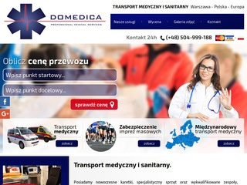 Domedica.pl transport medyczny