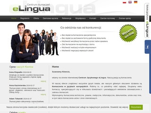 Elingua.com.pl tłumaczenia stron internetowych