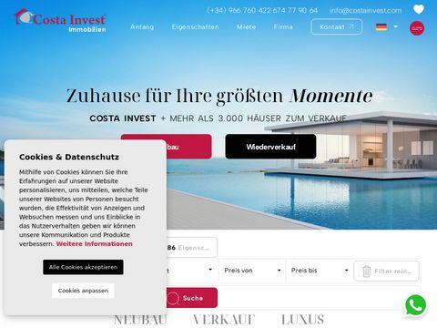 Costa Invest - wynajem mieszkania Hiszpania