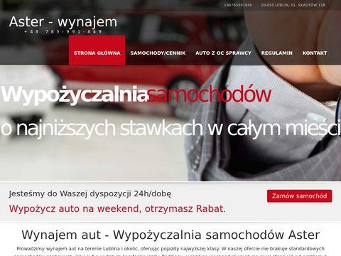 Aster-wynajem.pl wypożyczalnia aut Lublin