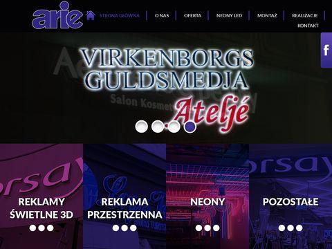 Arie.com.pl reklama 3d Poznań