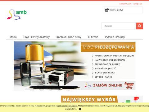 AMB - wizytówki, pieczątki Poznań