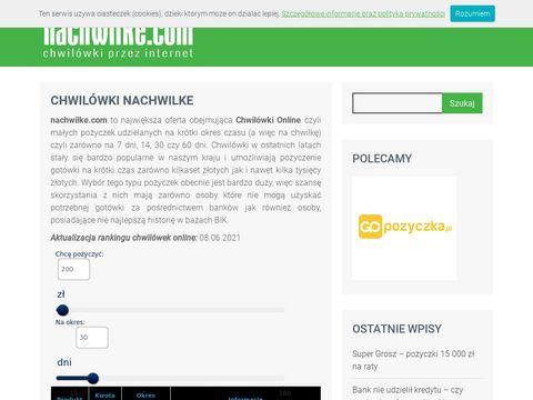 Nachwilke.com chwilówki wyszukiwarka