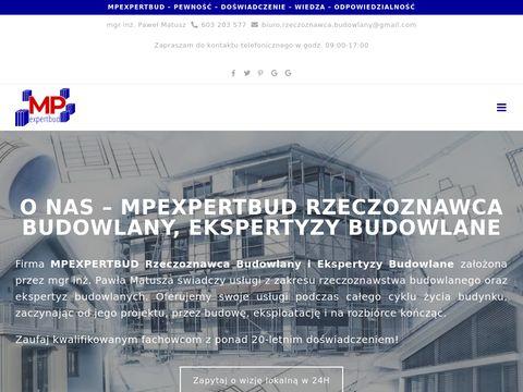Mpexpertbud.pl - biegły rzeczoznawca budowlany