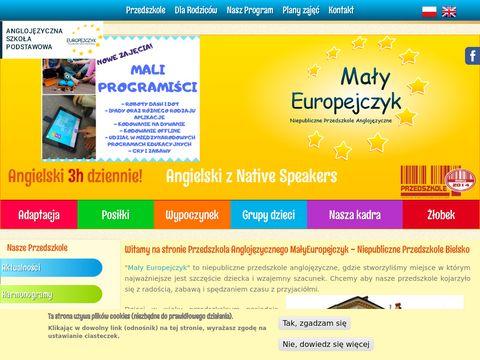 Malyeuropejczyk.pl niepubliczne przedszkole Bielsko