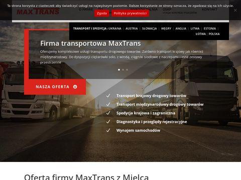 Maxtrans.com.pl transport Austria i spedycja