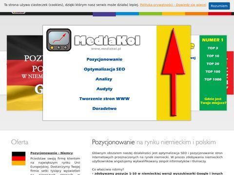 Mediakol.pl Pozycjonowanie w Niemczech - usługi