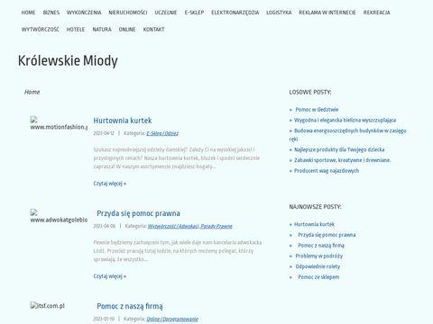 Krolewskie-miody.com.pl - miód gryczany