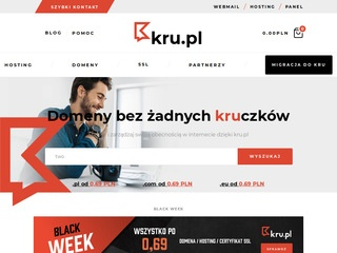 Kru.pl hosting Wordpress rejestracja domen