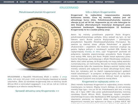 Krugerrand specyfikacja i wartość