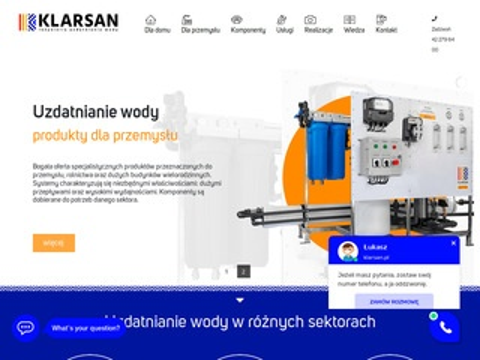 Klarsan.pl czysta woda w domu i przedsiębiorstwach