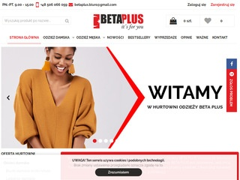 Beta Plus hurtownia modnej odzieży damskiej