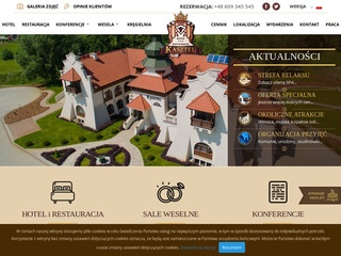 Hotelkasztel.pl sale weselne okolice Tarnowa