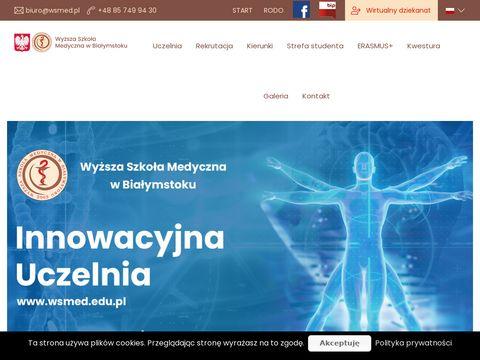 Wsmed.edu.pl edukacja fizjoterapia Białystok