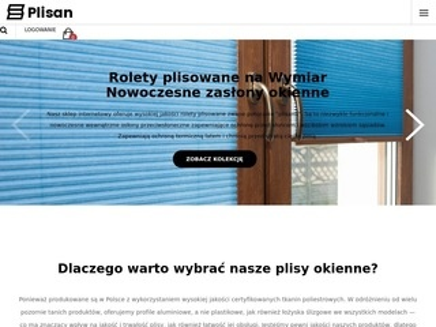 Plisan.pl żaluzje plisowane