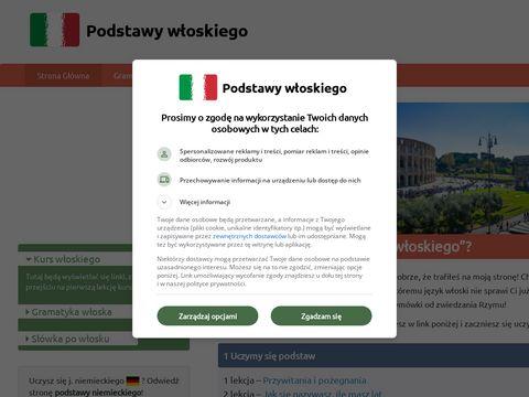 Podstawywloskiego.pl samouczek języka włoskiego