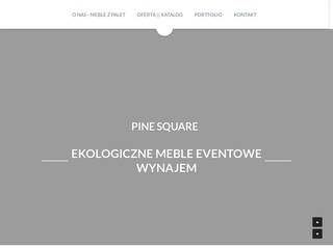 Pinesquare.pl meble z palet - Warszawa
