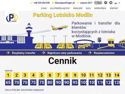 Parkingp1.pl lotnisko Modlin