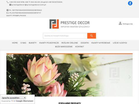 Prestigedecor.com.pl importer kwiatów z Chin