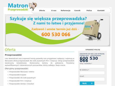 Przeprowadzkimatron.pl transport Warszawa