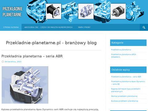 Przekladnie-planetarne.pl - branżowy blog