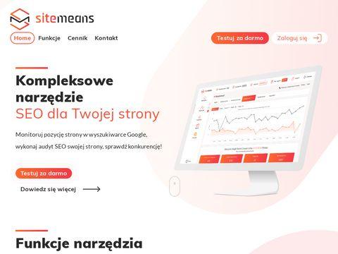 Sitemeans.com kompleksowe narzędzie SEO
