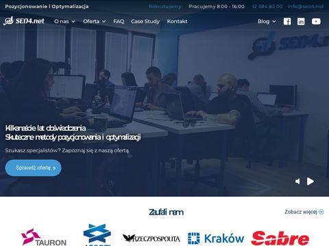 Seo4.net pozycjonowanie stron Kraków
