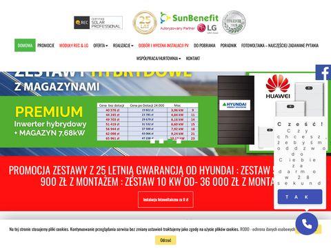 Sunbenefit.pl instalacje fotowoltaiczne śląsk