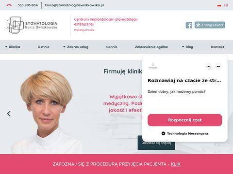 Stomatologiaswiatkowska.pl implanty Kraków