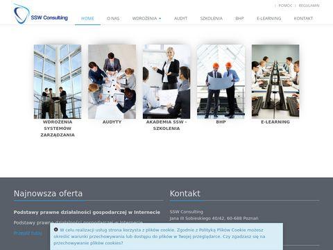 Ssw-consulting.pl wdrażanie ISO HACCP BRC IFS