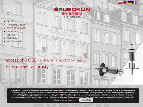 Sruboklin.eu system - montaż płyt OSB