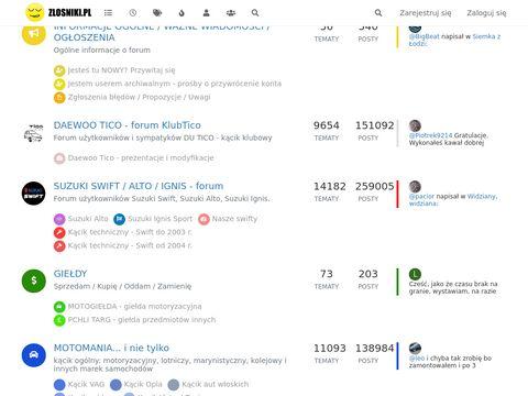 Zlosniki.pl internetowe forum dyskusyjne