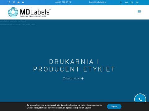 Mdlabels.pl cyfrowa drukarnia etykiet