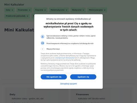 Minikalkulator.pl ułamków zwykłych