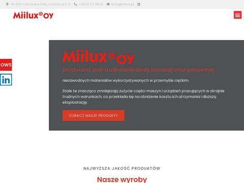 Miilux - zakład produkcji stali blachy łyżek