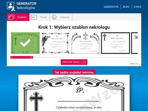 Nekrologwzor.pl usługa generowania