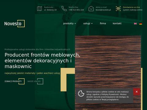 Novesto.pl producent frontów kuchennych