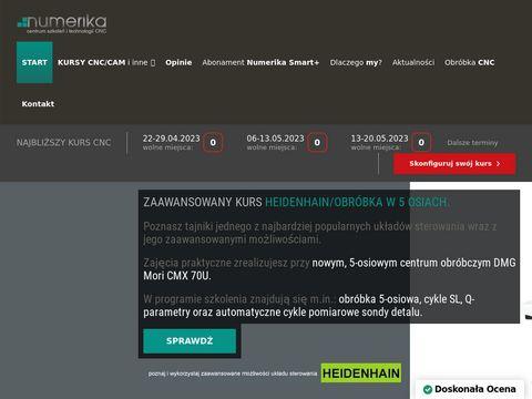 Numerika.pl kurs CNC skuteczny i od podstaw