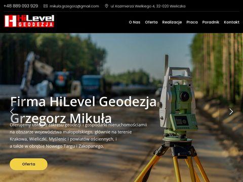 HiLevel pomiary geodezyjne Myślenice