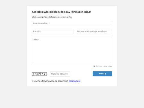 Klinikagenesis.pl medycyna estetyczna Kraków