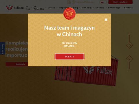 Fullbax.pl sprowadzanie towaru z chin
