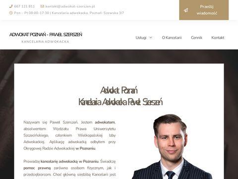 Adwokat-szerszen.pl kancelaria adwokacka Poznań