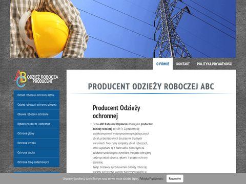 Abcrobocze.pl producent odzieży roboczej