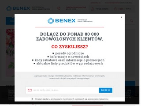 Cebule-kwiatowe.pl sklep detaliczny Benex