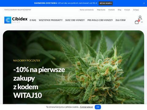 Cibidex.pl susz CBD olej sklep konopny
