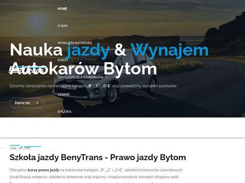 Benytrans.com.pl szkoła jazdy Bytom