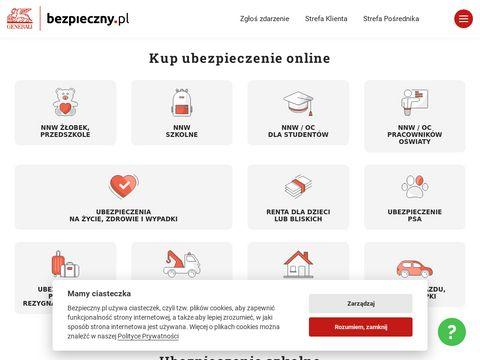 Bezpieczny.pl ubezpieczenia nnw szkolne