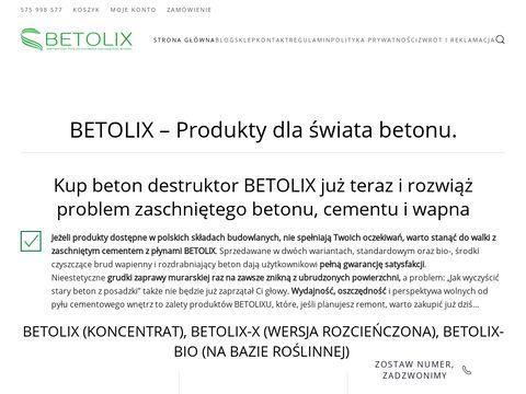 Betolix.pl płyny antyadhezyjne